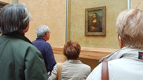 La Joconde, accrochée au musée du Louvre.