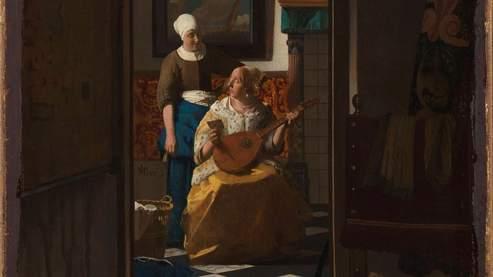 La Lettre d'amour de Johannes Vermeer, crédit photo : Amsterdam Rijksmuseum (détail)