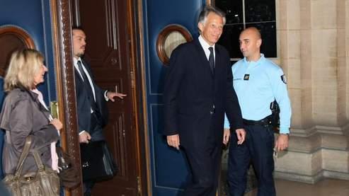 L'ancien premier ministre Dominique de Villepin, mardi, au tribunal de grande instance de Paris.