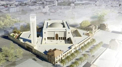 Vue d'architecte du projet de mosquée dans les quartiers nord de Marseille.