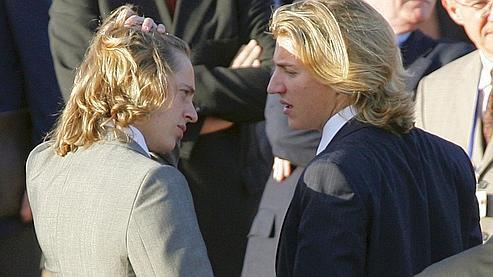 Les fils du président, Pierre et Jean Sarkozy, le 23 octobre 2007 à Marrakech.