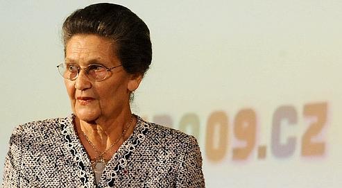 Simone Veil lors de l'«Holocaust Era Assets Conference», à Prague en juin 2009.