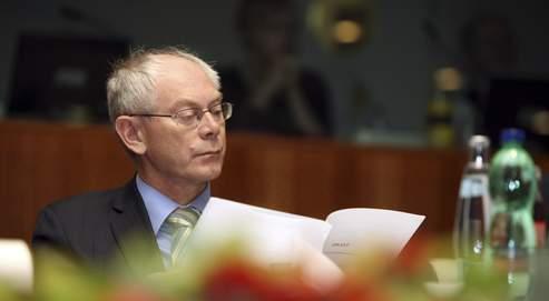 Le premier ministre belge, Herman Van Rompuy, lors d'une cérémonie pour la fête du roi, au Parlement de Bruxelles,le 15 novembre 2009.