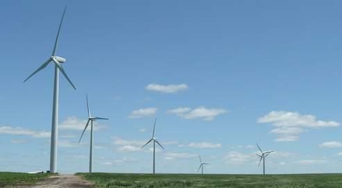 Un champ d'éoliennes aux États-Unis.