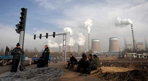 En Chine,il se construit une centrale thermique au charbon par semaine. Ici, dans la province du Shanxi.