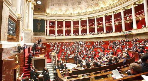 L'hémicyle de l'Assemblée nationale.