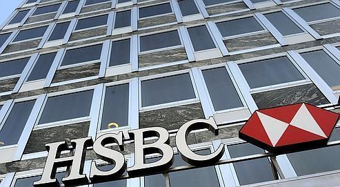 Les locaux de la banque HSBC à Genève, en Suisse.