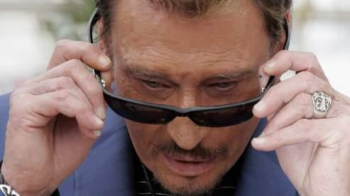 Johnny Hallyday le 17 mai 2009 au festival de Cannes.