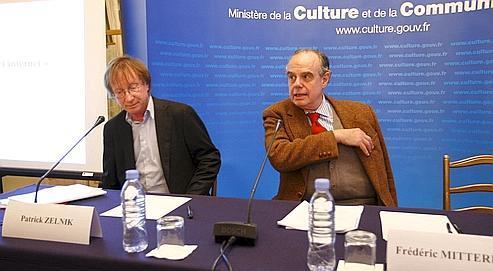 Patrick Zelnik et Frédéric Mitterrand, hier au ministère de la Culture, pour la présentation du rap