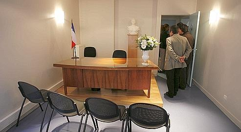 La salle d'audience de la Maison de la Justice et du Droit à Clichy-sous-Bois, en Seine-Saint-Denis.