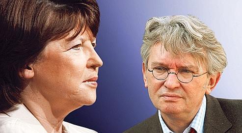 Martine Aubry et Jean-Claude Mailly, secrétaire général de FO.