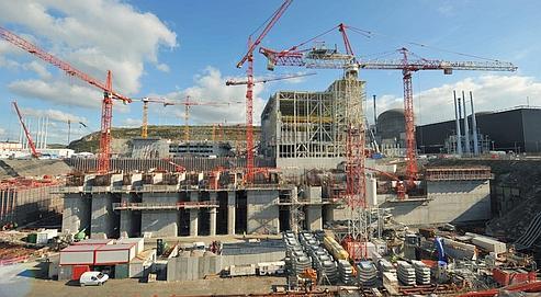 Chantier de construction du nouveau réacteur nucléaire de Flamanville (Manche).