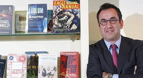 Arnaud Nourry, hier, dans son bureau.