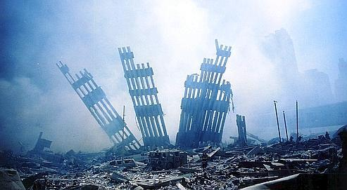 Débris après l'attaque du World Trade Center à New York le 11 septembre 2001.