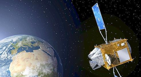 Vue d'artiste du futur satellite météo de troisième génération d'Eumetsat.