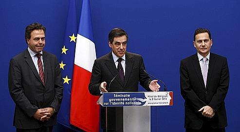 Luc Chatel, François Fillon et Éric Besson, lundi.