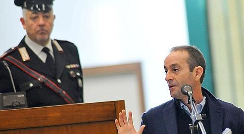 Massimo Ciancimino, fils de l'ancien maire de Palerme Vito Ciancimino, ce lundi.