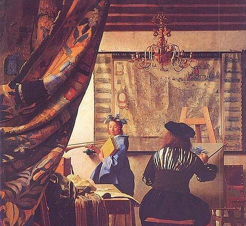 «L'Art de la peinture», de Vermeer, 1665-1668. (The Yorck Project)