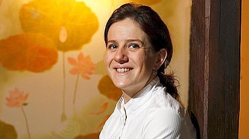 Adeline Grattard, 32 ans, vient de décrocher sa première étoile pour le restaurant Yam'Tcha (Ier) - Crédits : J-C. Marmara / Le Figaro