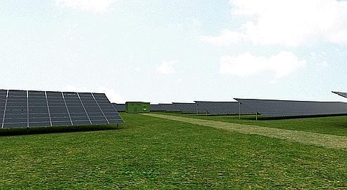 La centrale photovoltaïque, étalée sur plus de 400 hectares,aura une puissance de 143 mégawatts, soit l'électricité nécessaire pour une ville de 62000 habitants. DR