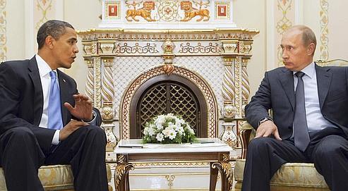Barack Obama et Vladimir Poutine, lors d'une rencontre en 2009.