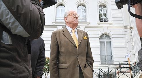 Jean-Marie Le Pen, président du FN et candidat en région Paca, était à Nicepour commenter les résultats du second tour.
