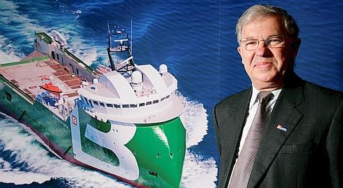 Jacques de Chateauvieux, PDG du groupe Bourbon, le spécialiste mondial des navires de service maritime.