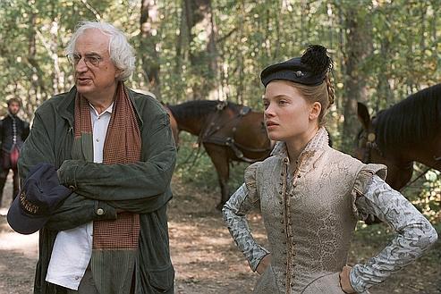 Bertrand Tavernier et Mélanie Thierry sur le tournage de La Princesse de Montpensier.