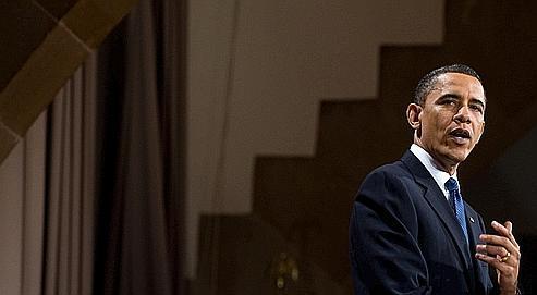 Barack Obama, jeudi à l'université Cooper Union de New York.