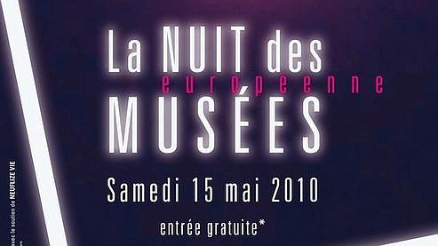 Affiche 2010 de la Nuit des Musées © Création : Veronica Ann Janssens avec le soutien de Neuflize Vie - Conception graphique : Jour Ouvrable