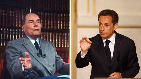 «On aurait beaucoup moins de problème si Mitterrand s'était abstenu» de ramener l'âge de départ à la retraite de 65 à 60 ans, estime le chef de l'État. (Crédits photo : AFP et Le Figaro)