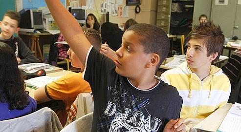 Des élèves de 5e du collège privé de l'Assomption à Bondy. Selon l'étude, les parents ne veulent plus des «vieilles méthodes traditionnelles», ils ne sont que 17% à demander plus de sanctions. Ils réclament surtout davantage de dialogue (48%).