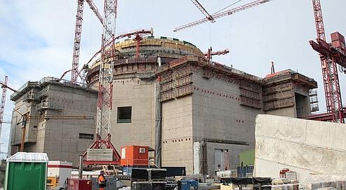 Le chantier de la centrale nucléaire de troisième génération d'Olkiluoto, en Finlande.