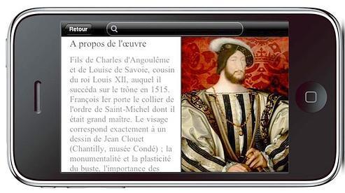 L'application iPhone du Louvre permet de consulter une partie des oeuvres