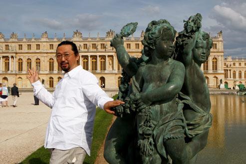 «Je suis très honoré de pouvoir exposer au château de Versailles. Surtout lorsque je réalise son contexte historique», déclare Takashi Murakami. (François Bouchon/Le Figaro)