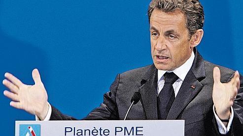 Nicolas Sarkozy, ce mardi à Planète PME, à Paris.
