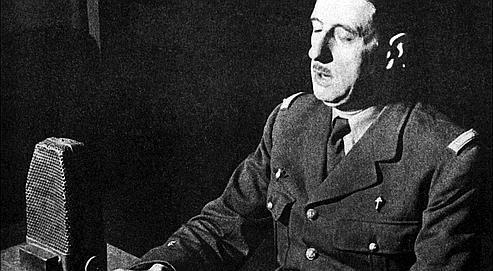 Comment de Gaulle (ici, le 18 juin 1940) a-t-il eu l'audace detransgresser la loi militaire pourlancer son appel du 18 juin? Aunom de l'honneur. Crédit photo AFP