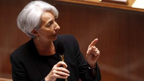 Christine Lagarde lors des questions au gouvernement à l'Assemblée nationale.
