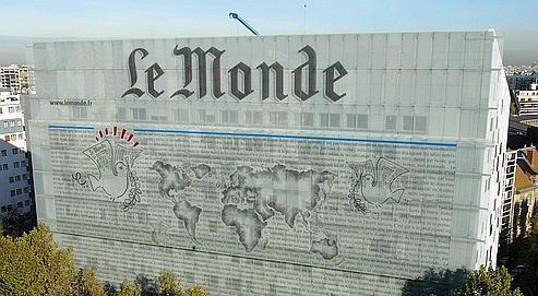 Le siège du quotidien Le Monde, à Paris.