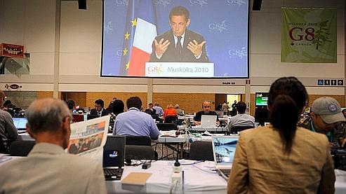 Conférence de presse de Nicolas Sarkozy à l'issue du G8.