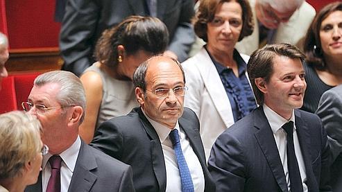 Éric Woerth (au centre) mardi à l'Assemblée nationale.
