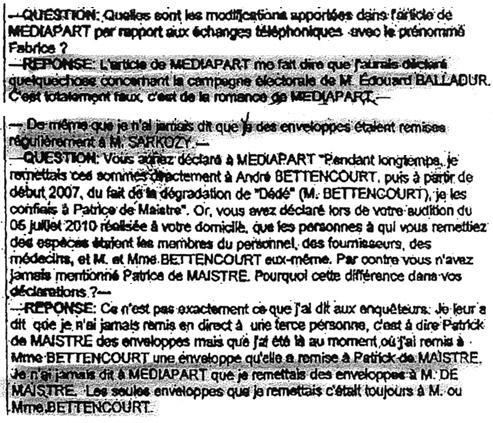 Le Figaro a pu se procurer des extraits de l'interrogatoire de l'ex-comptable de Liliane Bettencourt.