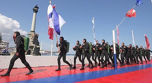 Sébastopol l'ukrainienne fait un triomphe à la flotte russe