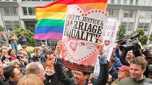 Les opposants à la Proposition 8 affirmaient qu'elle est discriminatoire envers les homosexuels. AP Photo/Eric Risberg