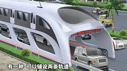 Le véhicule, haut de 4,5 mètres, est prévu pour survoler les voitures.