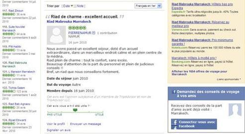 Le site Internet tripadvisor.com permet à tout internaute de se faire critique de guide de voyage le temps de quelques clics.