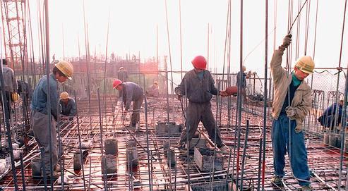 Des ouvriers de la région de Pékin.