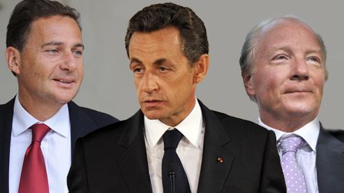 Éric Besson, Nicolas Sarkozy et Brice Hortefeux. Crédits photos : AFP /Montage lefigaro.fr