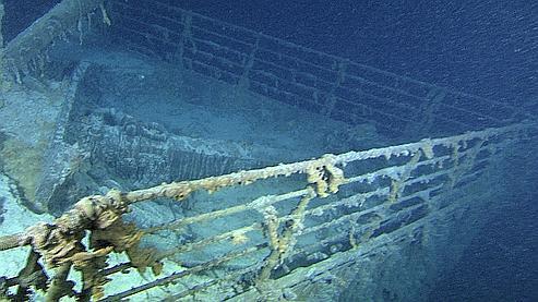 La proue du Titanic, filmée en août dernier par un sous-marin.