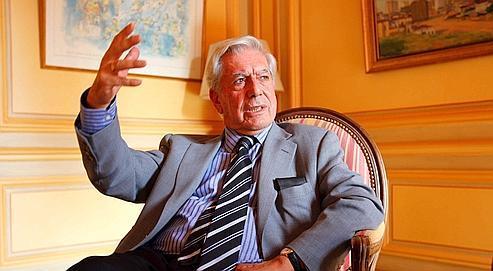 Mario Vargas Llosa à la Maison de l'Amérique latine, le 10 septembre dernier.